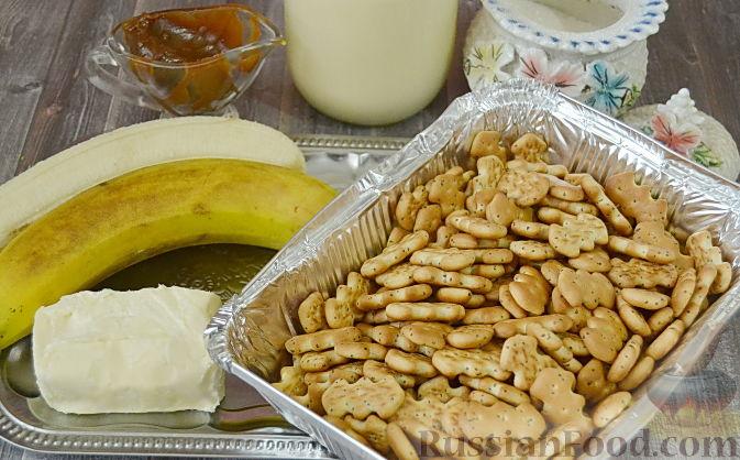 рецепт суфле с крекером и бананами