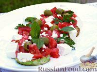 Фото к рецепту: Салат с жареными кабачками и перцем