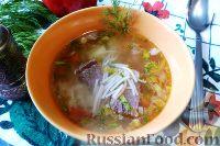 Фото к рецепту: Суп с жареной лапшой-паутинкой