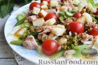 Фото к рецепту: Салат с фасолью, тунцом и черри