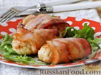 Фото к рецепту: Куриные котлеты в беконе