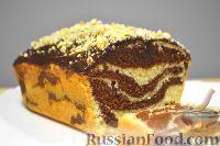 "Фото к рецепту: Кекс ""Мраморный"" (к чаю)"
