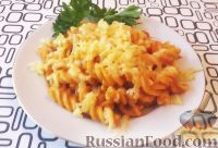 Фото к рецепту: Макароны в сметанно-томатном соусе
