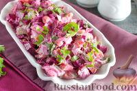 Фото к рецепту: Острый салат из вареной свеклы