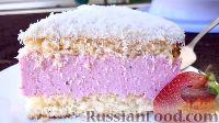 Фото к рецепту: Клубнично-кокосовый торт