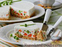 Фото к рецепту: Чизкейк с овощами (без выпечки)