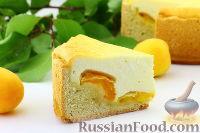 Фото к рецепту: Пирог с творогом и абрикосами