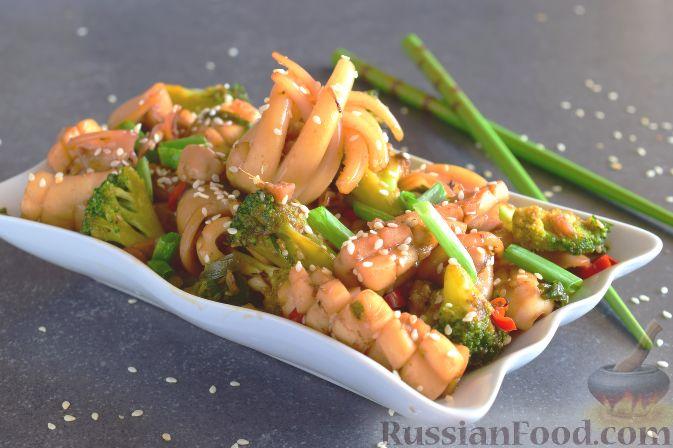 китайской кухни кальмары Рецепты