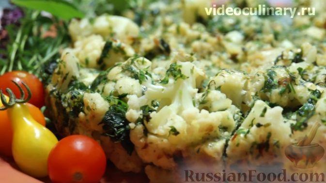 цветная капуста с яйцом на сковороде рецепт с фото