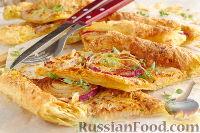Фото к рецепту: Быстрый луковый пирог с сыром
