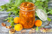 Фото к рецепту: Абрикосовый конфитюр с грецкими орехами