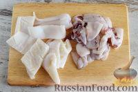 Фото приготовления рецепта: Кальмары с брокколи, в соевом соусе - шаг №6