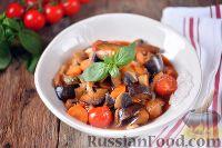 Фото к рецепту: Баклажаны, тушенные с помидорами