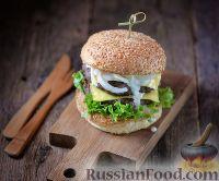 Фото к рецепту: Домашние бургеры (за 15 минут)