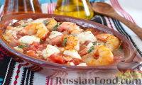 Фото к рецепту: Креветки, запеченные с сыром (по-критски)