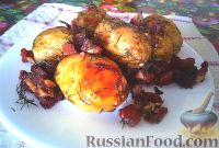 Фото к рецепту: Молодой картофель с ребрышками (в рукаве)