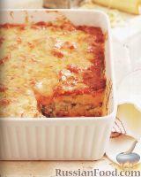 Фото к рецепту: Мясная запеканка с шампиньонами, полентой и сыром