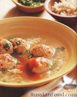 Фото к рецепту: Имбирный суп с куриными фрикадельками