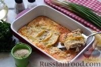 Фото к рецепту: Окунь, запеченный в сырном соусе