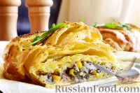 Фото приготовления рецепта: Пирог с луком, консервированной кукурузой и маком - шаг №11