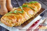 Фото к рецепту: Пирог с луком, консервированной кукурузой и маком