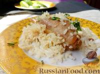 Фото к рецепту: Кролик тушеный с рисом
