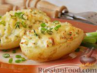 Фото приготовления рецепта: Запеченный картофель, фаршированный сыром фета - шаг №10