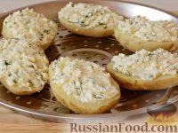Фото приготовления рецепта: Запеченный картофель, фаршированный сыром фета - шаг №9