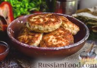 Фото к рецепту: Куриные котлеты с овощами и сыром