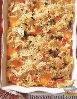 Фото к рецепту: Запеканка из лапши, с тунцом и сыром