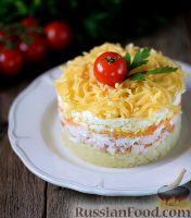 Фото к рецепту: Салат с копчёной куриной грудкой