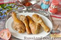 Фото к рецепту: Курица горячего копчения (в коптильне на газовой плите)
