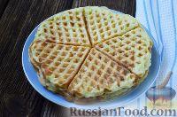 Фото к рецепту: Вафли из кабачков