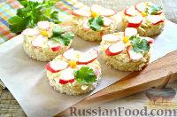 Фото к рецепту: Бутерброды с крабовыми палочками