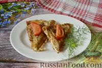 Фото приготовления рецепта: Бутерброды с мясом (в бутерброднице) - шаг №14