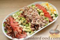 Фото приготовления рецепта: Кобб-салат с курицей - шаг №14
