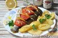Фото к рецепту: Дорадо, запеченная с картошкой
