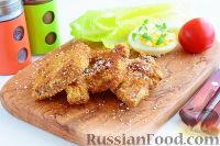 Фото к рецепту: Свинина, жаренная в желтках и кокосовой панировке