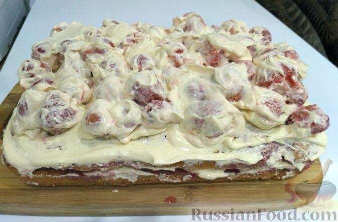 """Фото к рецепту: Торт """"Клубничное безумие"""""""