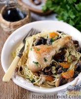 Фото к рецепту: Макароны с курицей и грибами
