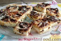 Фото к рецепту: Творожное пирожное с изюмом