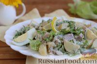 Фото к рецепту: Теплый картофельный салат с тунцом