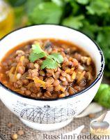 Фото к рецепту: Томатный суп с чечевицей