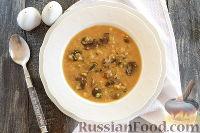 Фото к рецепту: Шотландский грибной суп с овсяными хлопьями