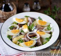 Фото к рецепту: Салат из сельди, картофеля, яиц и лука
