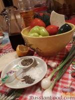 Фото приготовления рецепта: Овощной салат с брынзой и сухариками - шаг №1