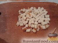 Фото приготовления рецепта: Овощной салат с брынзой и сухариками - шаг №3
