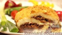 Фото к рецепту: Картофельный рулет с мясом
