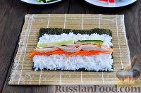 Фото приготовления рецепта: Кимбап (корейские роллы) - шаг №10