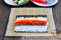 Фото приготовления рецепта: Кимбап (корейские роллы) - шаг №11